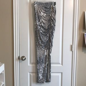 NWOT Sexy Cache bodycon maxi skirt front ruched 0
